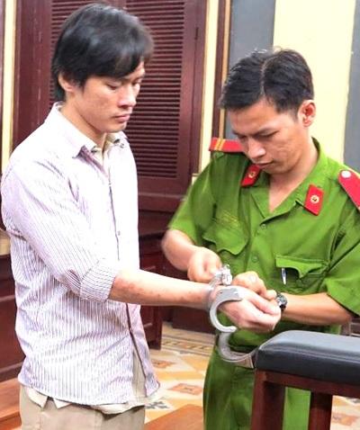 Võ Khánh Khoa tại phiên tòa xét xử sơ thẩm ngày 26/11
