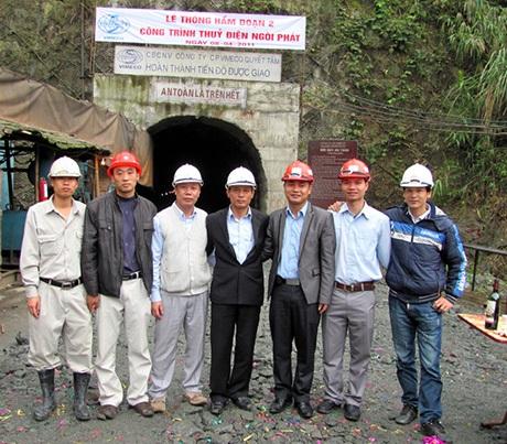 Đường hầm tuyến năng lượng dài hơn 9 km của nhà máy thủy điện Ngòi Phát