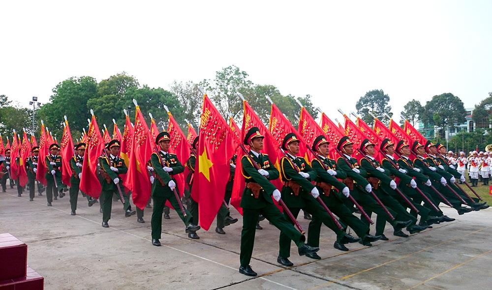 Các khối tham gia buổi hợp duyệt diễu binh ngày thứ 2