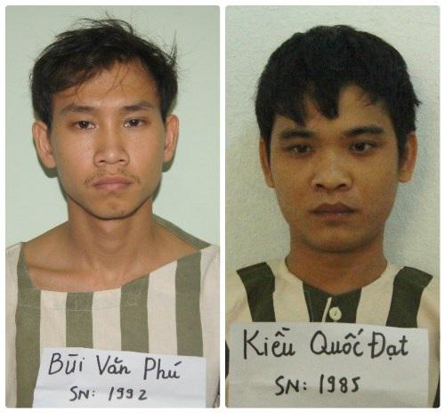 Hai tên đạo chích bị tạm giữ tại cơ quan công an