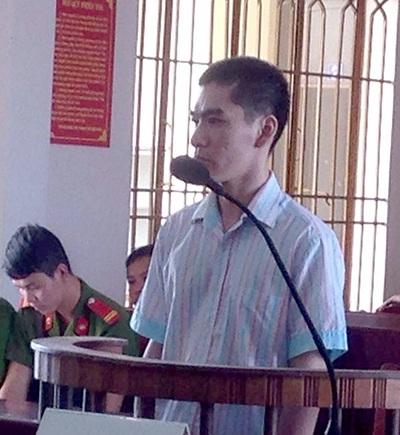 Bị cáo Nguyễn Hoàng Minh tại tòa