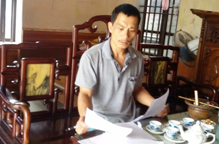 6 tháng trôi qua, anh Nam vẫn mòn mỏi đợi chờ UBND huyện Bình Lục giải quyết vụ việc gia đình mình.