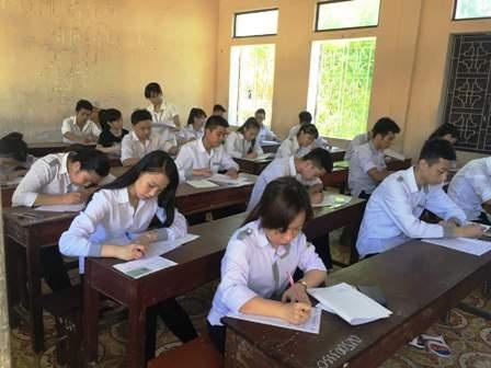 Các thí sinh Nam Định dự kỳ thi THPT quốc gia 2015 với nguyện vọng xét tốt nghiệp THPT