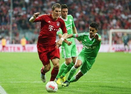 Schweinsteiger dù có được một bàn thắng những cũng hai lần đưa bóng đi trúng khung gỗ