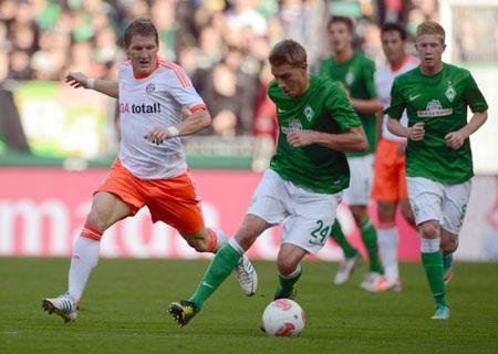 Bayern hạ Bremen, Dortmund thắng đậm Monchengladbach