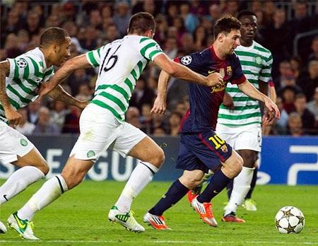 """Barcelona lại có một màn """"hút chết"""" nữa, lần này là ở Champions League và trước đối thủ Celtic."""