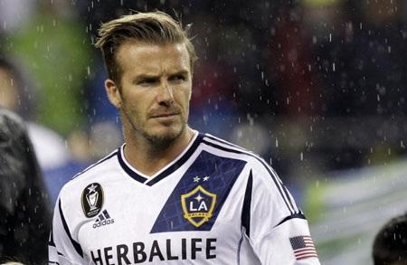 """Khung cảnh buổi họp báo David Beckham tuyên bố kết thúc """"giấc mơ Mỹ"""" của mình."""