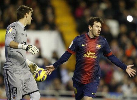 Messi sắp chạm mốc 300 bàn cho Barcelona