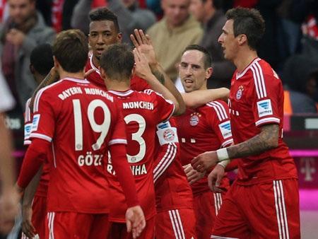 Bayern Munich củng cố chắc chắn ngôi đầu