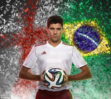 Thủ quân đội tuyển Anh, Steven Gerrard tin rằng Brazuca là trái bóng tốt nhất hiện nay