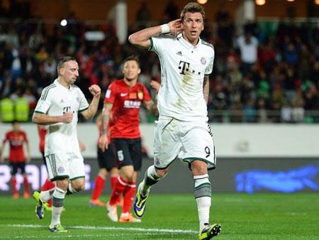 Bayern Munich dễ dàng đánh bại Quảng Châu Evergrande trong thế trận một chiều