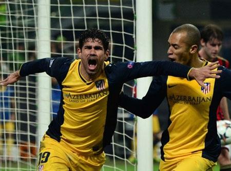 Diego Costa một lần nữa tỏa sáng đem về chiến thắng cho Atletico Madrid