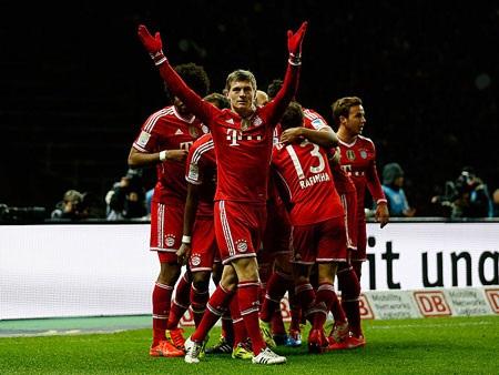 Đánh bại Hertha Berlin, Bayern đăng quang sớm 7 vòng đấu