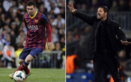 Diego Simeone đã tìm ra công thức phong tỏa Messi