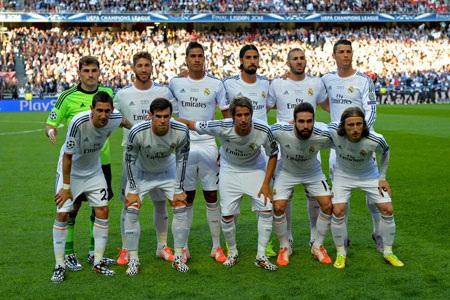 Đội hình xuất phát của Real Madrid.