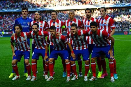 Đội hình xuất phát của Atletico Madrid.