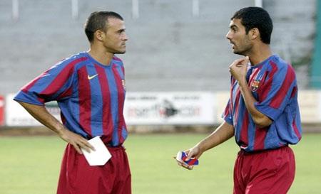 Luis Enrique cùng đồng đội