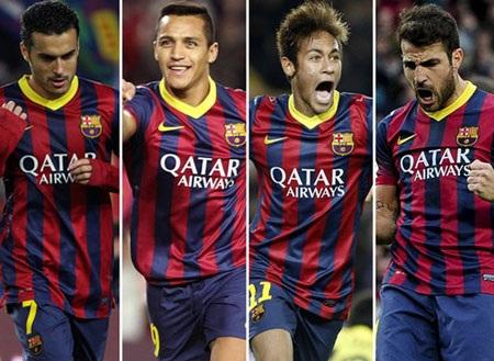 """Barca thừa những tiền đạo theo kiểu """"vệ tinh"""""""