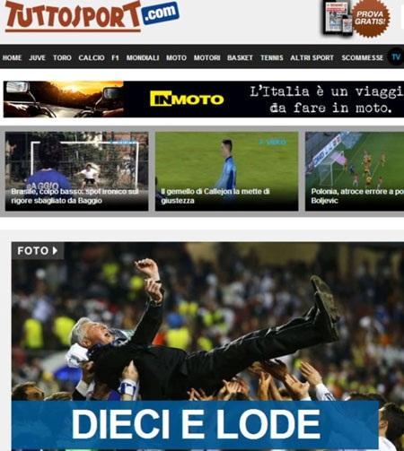 Thầy trò Ancelotti nhận được vô vàn lời ca tụng sau chiến tích Decima.