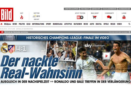 Chiến thắng điên rồ của Real Madrid.