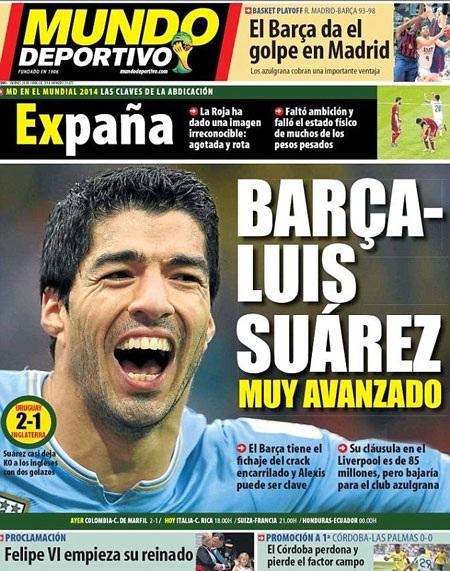 Suarez sắp đầu quân cho Barca