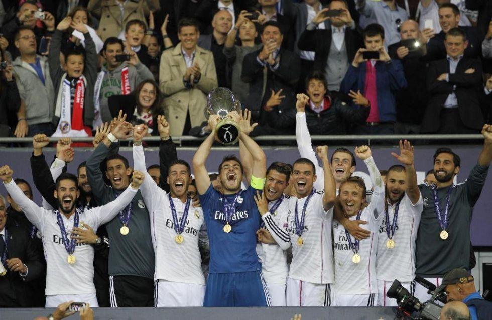 Siêu cúp châu Âu, danh hiệu cuối cùng Di Maria có được cùng Real Madrid.