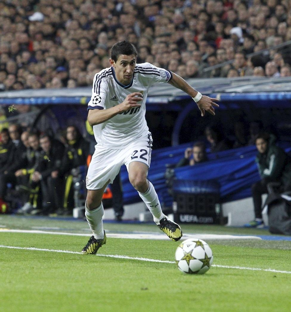Di Maria phối hợp rất ăn ý với C.Ronaldo trong màu áo Real Madrid.