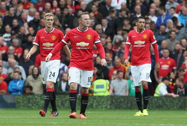 ... nỗi buồn xen lẫn sự thất vọng của các cầu thủ Man United.