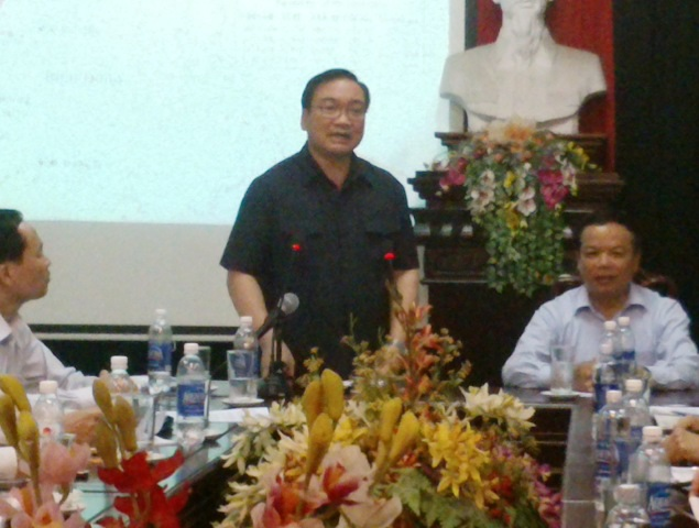 Phó Thủ tướng Hoàng Trung Hải yêu cầu Thanh Hóa không được chủ quan (Ảnh: Nguyễn Thùy)