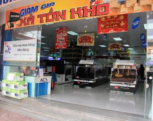 Cửa hàng điện máy, nơi tên Toàn thực hiện hành vi lừa đảo