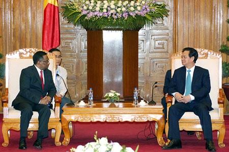 Thủ tướng tiếp Chủ tịch hiệp hội điện toán quốc tế.