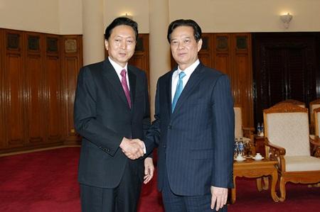 Thủ tướng tiếp nguyên Thủ tướng Nhật Bản Hatoyama Yukio.