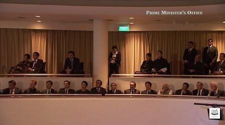 Lễ truy điệu nguyên Thủ tướng Lý Quang Diệu diễn ra tại hội trường Đại học Quốc gia Singapore.