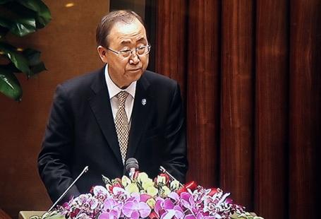 Tổng Thư ký Liên hợp quốc phát biểu trước Quốc hội Việt Nam.