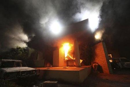 Lãnh sự quán Mỹ tại Libya tan hoang sau vụ tấn công