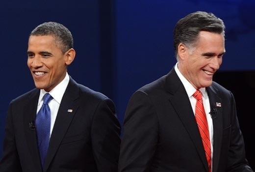 Tổng thống Barack Obama và ứng viên Cộng hòa Mitt Romney