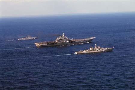 Tàu sân bay Kuznetsov hiện trong biên chế của lực lượng hải quân Nga