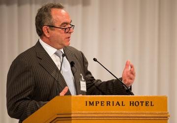 Trợ lý Ngoại trưởng Mỹ Kurt Campbell phát biểu tại hội thảo. Ảnh: BỘ NGOẠI GIAO MỸ