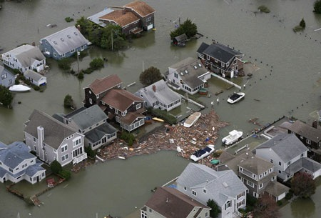 Vạt tàn phá của Sandy ở Mỹ