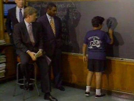 Năm 1992, Phó Tổng thống Dan Quayle đã sửa cách phát âm cho các học sinh lớp 6 tại bang