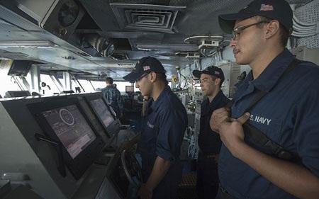 Cuộc sống trên tàu sân bay Mỹ ở ngoài khơi Iran