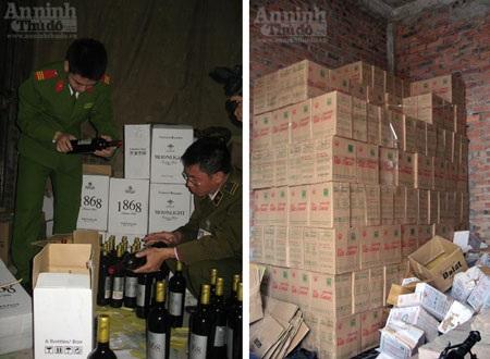 Hàng nghìn chai rượu vang nội được hô biến