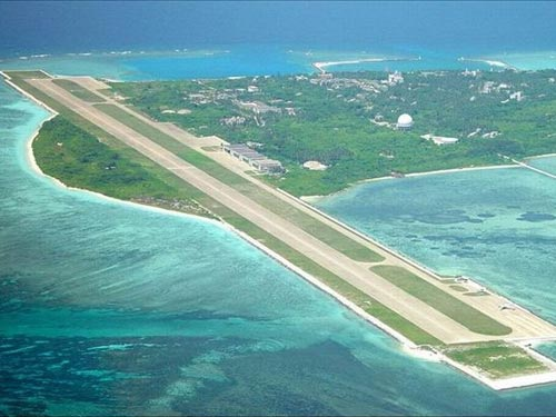 Đảo Ba Bình nhìn từ trên cao.