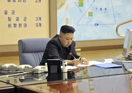 Một trong hai bức ảnh được cho là đã hé lộ kế hoạch tấn công Mỹ của Triều Tiên.