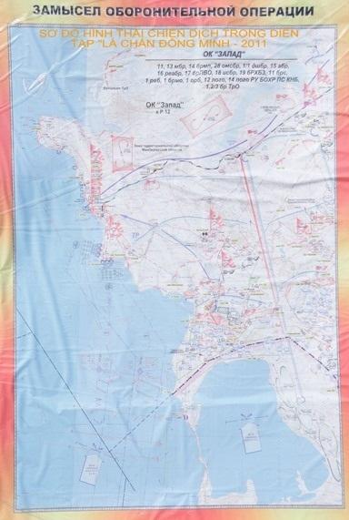 Bản đồ chiến dịch trong diễn tập Lá chắn đồng minh - 2011