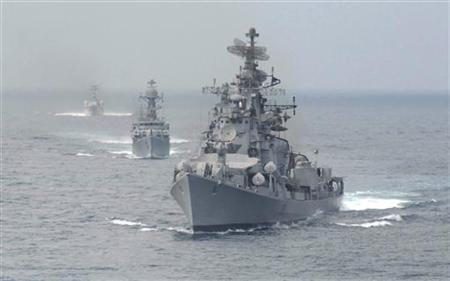 Tàu chiến của Hải quân Ấn Độ ở Biển Đông .