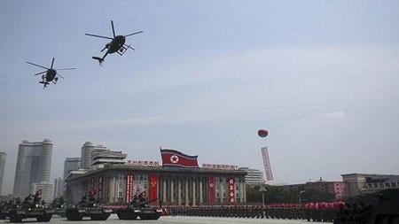Trực thăng MD-500 lần đầu lộ diện trên bầu trời Bình Nhưỡng ngày 27/7