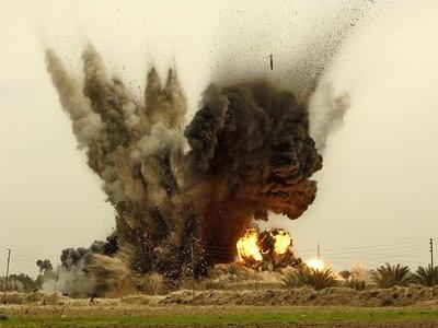 Một vụ nổ của JDAM tại Iraq năm 2008.