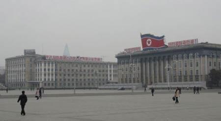 Thành phố Bình Nhưỡng được quy hoạch rất bài bản. Ảnh:T.L