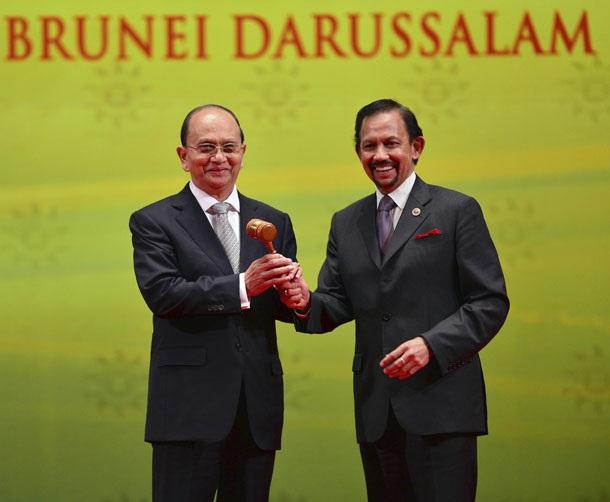 Myanmar nhận bàn giao chức Chủ tịch luân phiên của ASEAN từ Brunei vào ngày 10/10/2013